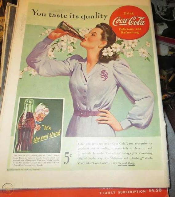 Coca Cola ad in Life magazine, 6 April 1942 worldwartwo.filminspector.com