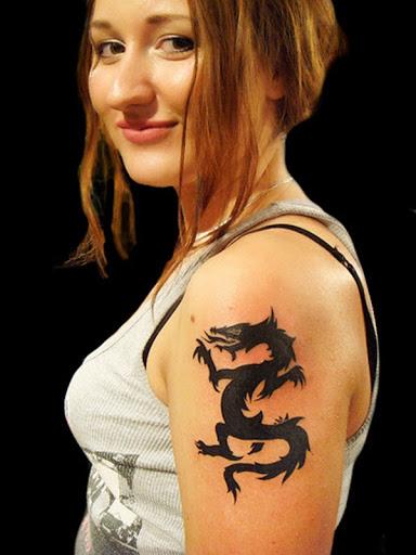Hot Dragon Tattoos For Girls Pop Tattoo Tattoos Dragon Arms