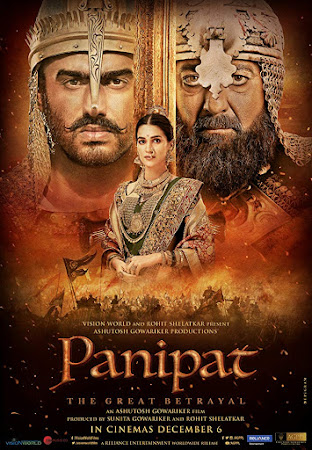 Poster Of Bollywood Movie Panipat 2019 300MB Pdvd Full Hindi Movie