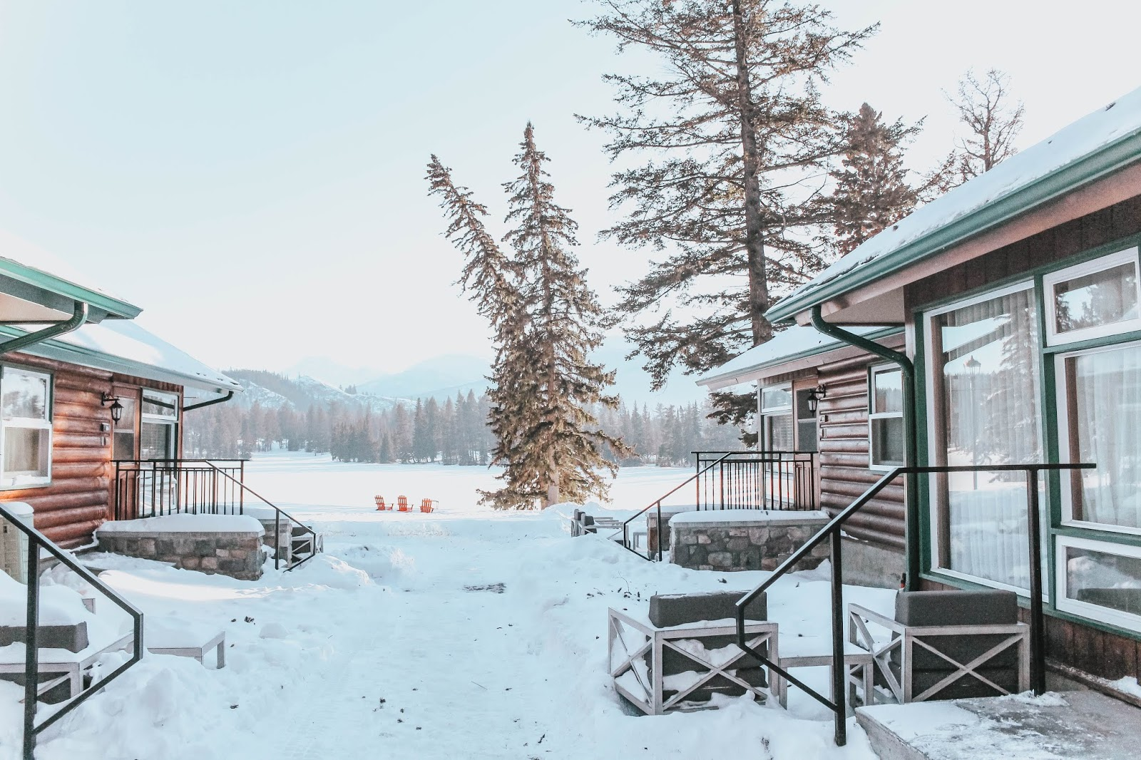 cabin, fairmont jasper park lodge, alberta, canada