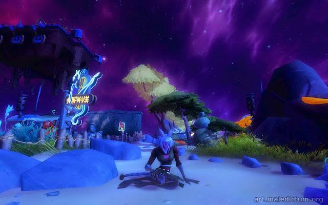Wildstar: Дракенша отдыхает в обустроенном личном гнездышке