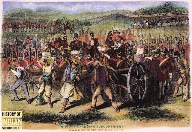 Picture of Cannoning the Indian Mutineers 1857