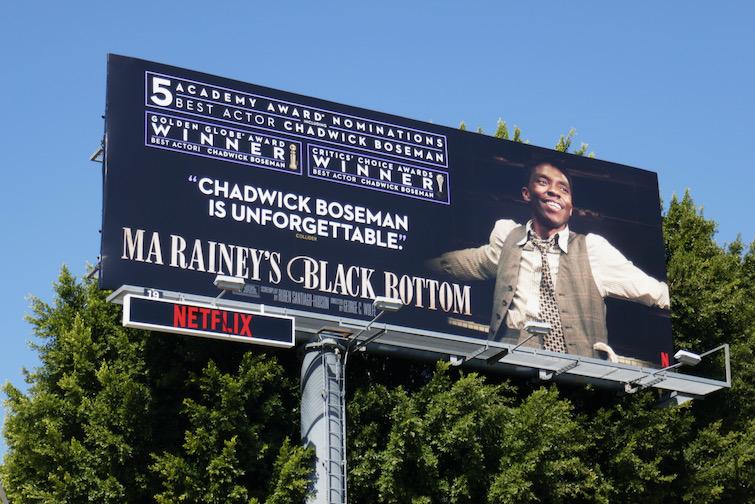 Chadwick Boseman Ma Raineys Black Bottom Academy Award nominee billboard
