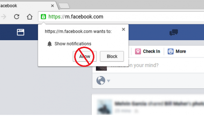 how to block chrome notification