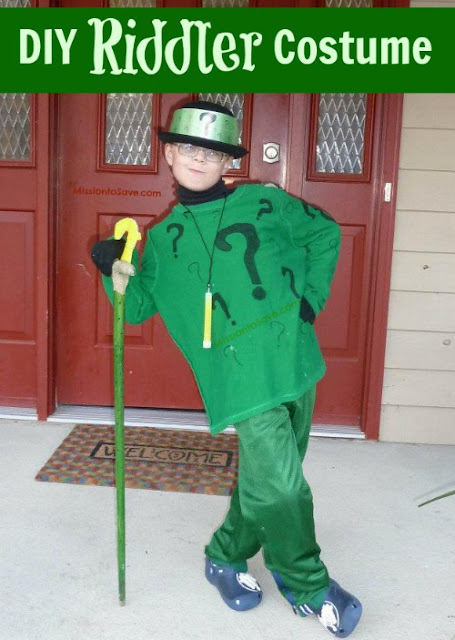 No sew Riddler costume