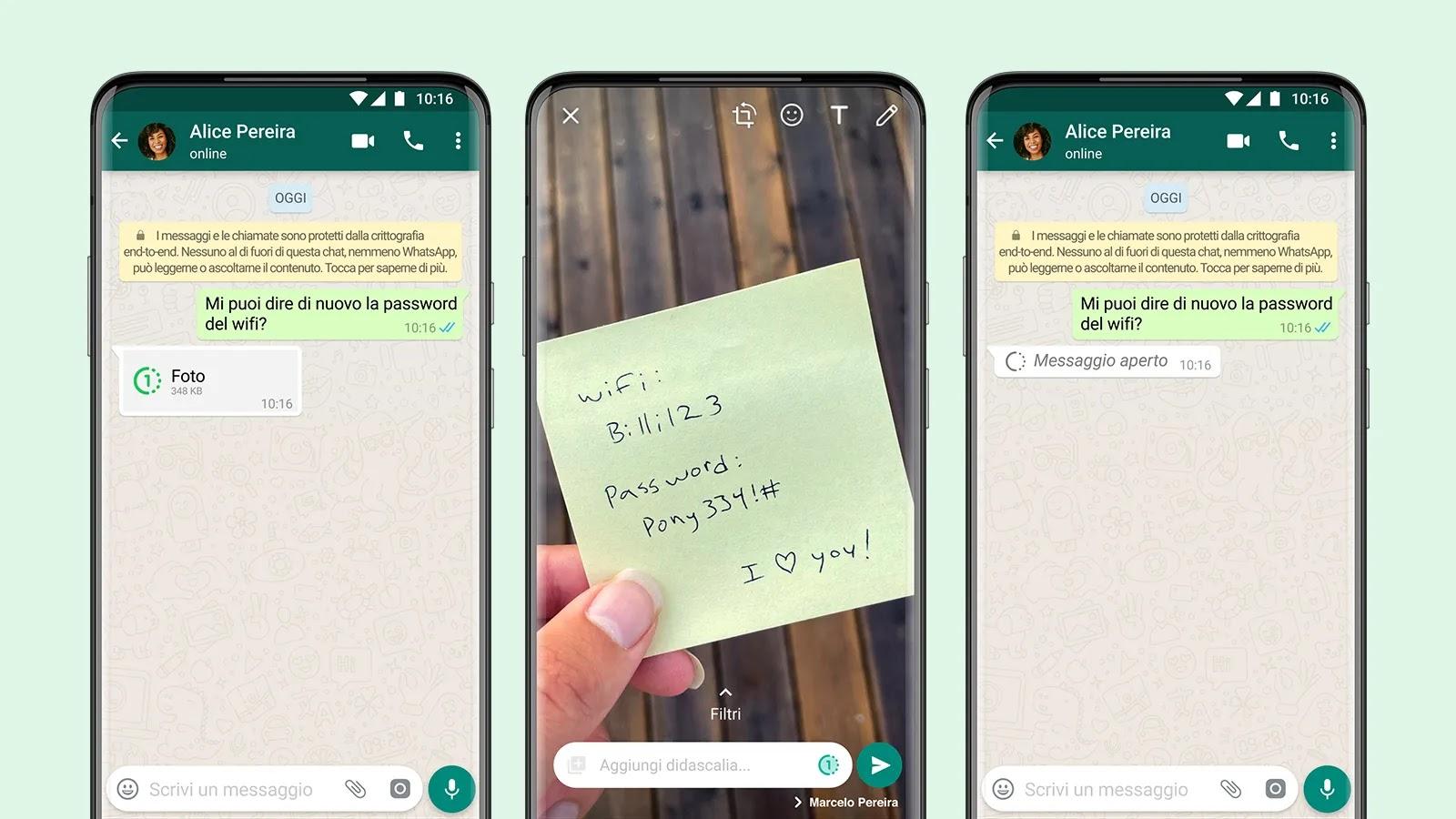 Come inviare foto e video su WhatsApp che scompaiono dopo la visualizzazione
