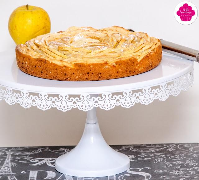 Gâteau aux pommes comme une tarte