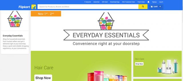 Flipkart Essentials Store for Household Items