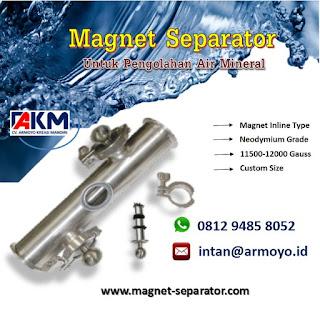 Magnet separator Inline Type 11500-12000 gauss