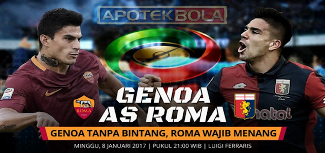 Prediksi Pertandingan Genoa vs AS Roma 8 Januari 2017