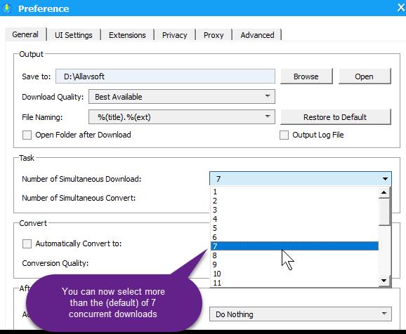 Notes tone unturned: Allavsoft's excellent Video Downloader