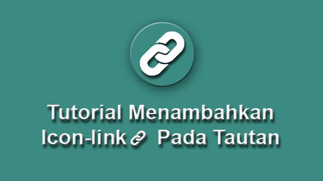 Tutorial menambahkan icon-link pada tautan