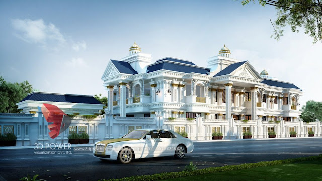 Exterior 3D Designing of a Bungalow by 3D Power