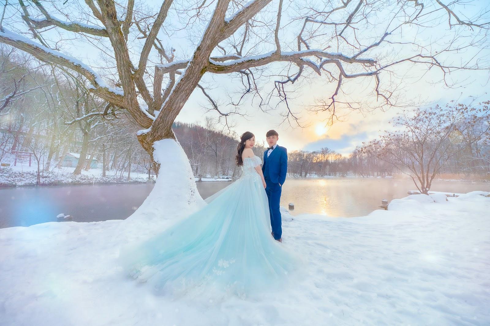 北海道婚紗/日本海外婚紗/下雪/北海道大學 小樽 札幌 雪地婚紗 世界最美的雪景婚紗 海外婚紗推薦瑪朵婚紗