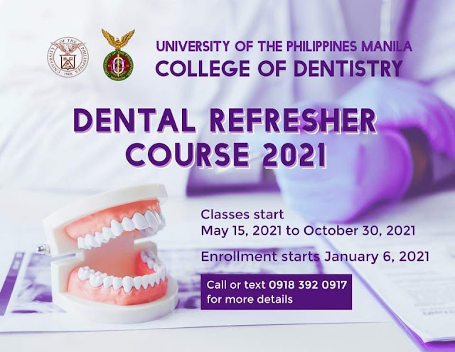 UPCD DENTAL REFRESHER COURSE 2021