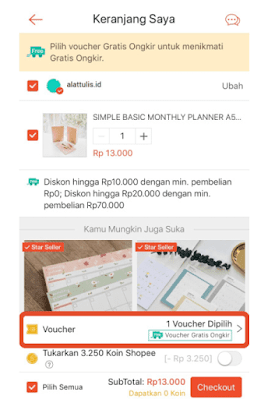 cara kalim voucher gratis ongkir dari shopee terbaru
