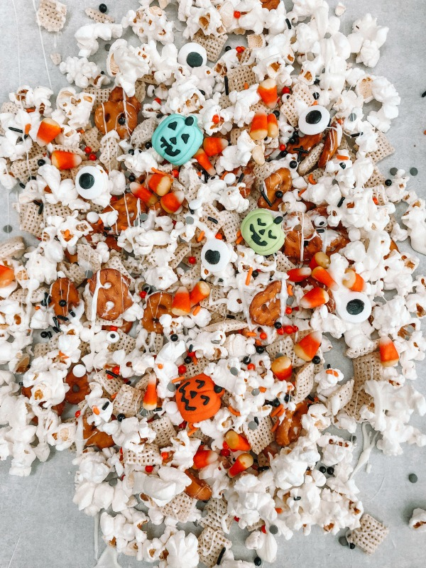 Halloween Chex Mix Chocolate Bark