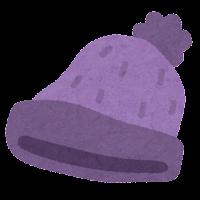 ニット帽のイラスト(紫)