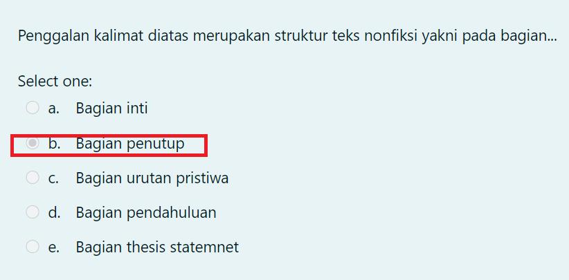 gambar jawaban kuis pembelaajran 3 bahasa indonesia SD