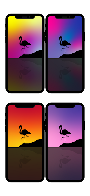 flamingo-summer-aesthetically-beautiful-background-for-phone-ios-android-minimal