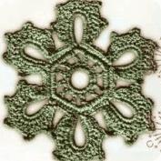 Flor Hexagonal a Crochet