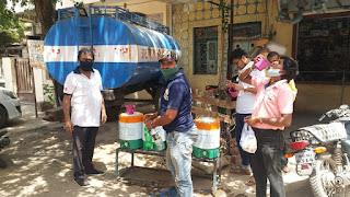 100 से अधिक फल सब्जी दुकानों को रोटरी क्लब की निशुल्क जल सेवा