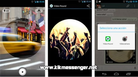 Graba y comparte videos redondos con Video Round para Kik