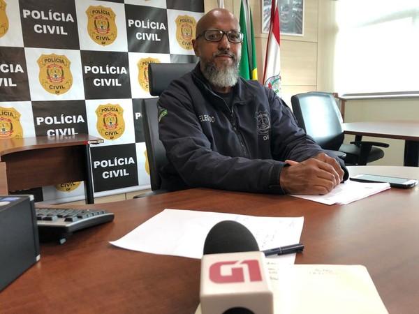 Delegado-chefe da 3ª Delegacia de Polícia (Cruzeiro), Ricardo Viana — Foto: Fabiano Andrade/TV Globo
