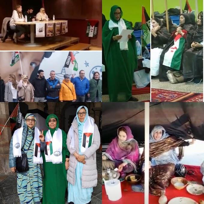 La liga de mujeres saharauis en España celebra 44 años de Republica Saharaui en todo el pais