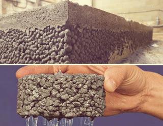 الخرسانة المُنفذة (الخالية من الرمل) - الاستخدامات والمزايا والعيوب