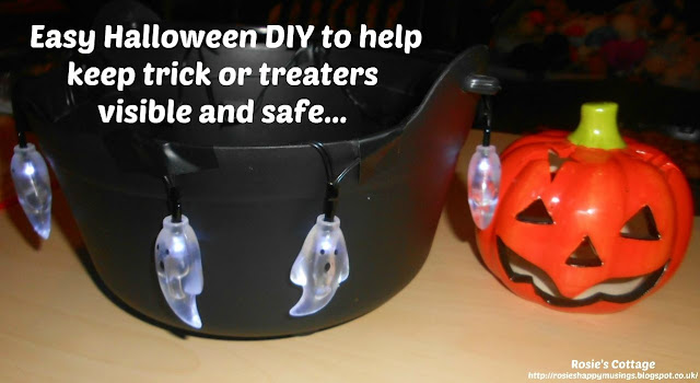 Easy Halloween DIY to help keep trick or treaters visible and safe outside