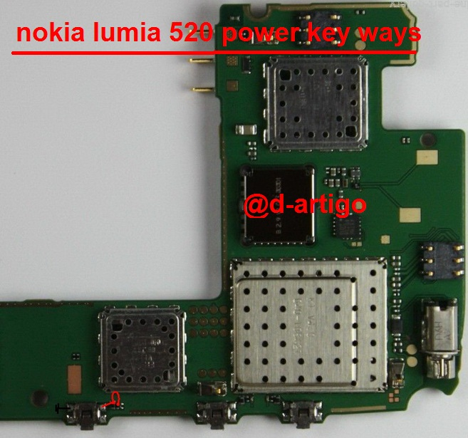 nokia lumia 520 power button