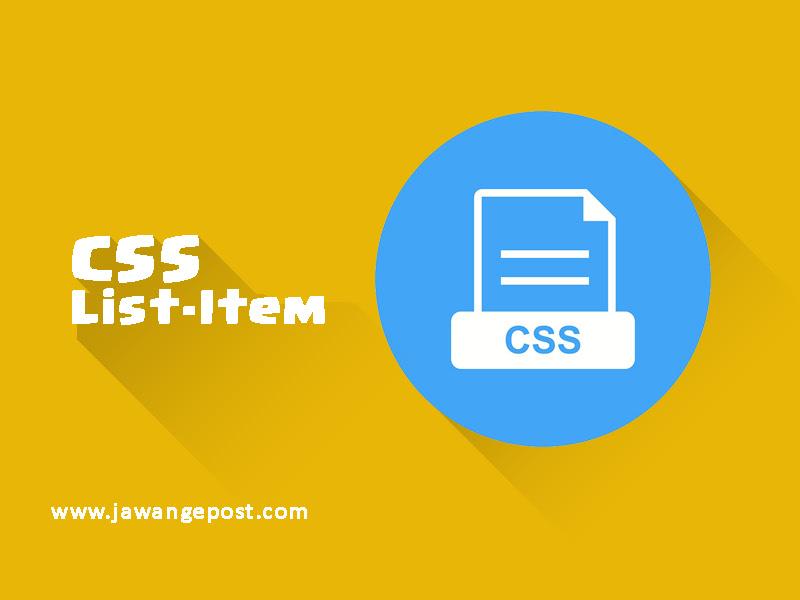 Tutorial Dasar Website-CSS Properti List Item