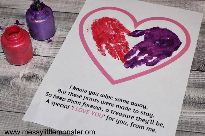 handprint heart craft