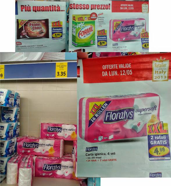 confronto prezzo offerta carta igienica LIDL XXL
