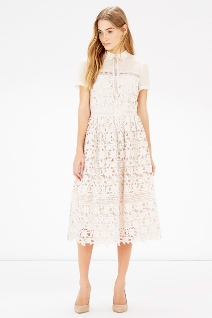 cream lace shirt midi dress, warehouse cream lace shirt dress,