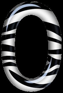 Abecedario con Textura de Cebra. Alphabet with Zebra Texture.