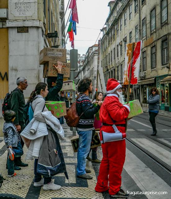 Crise europeia - protesto na Rua Augusta, Lisboa, em 2012