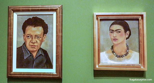 Frida Kahlo: Retrato de Diego Rivera e Autorretrato