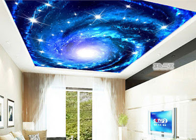space themed 3D false ceilings for living rooms 2017