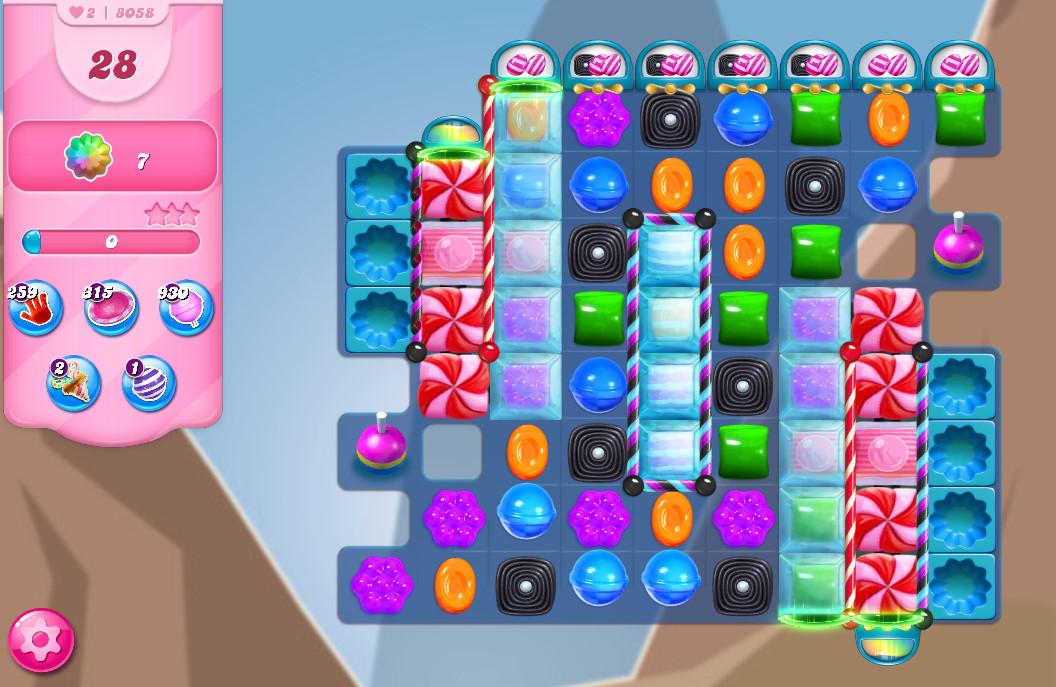 Candy Crush Saga level 8058