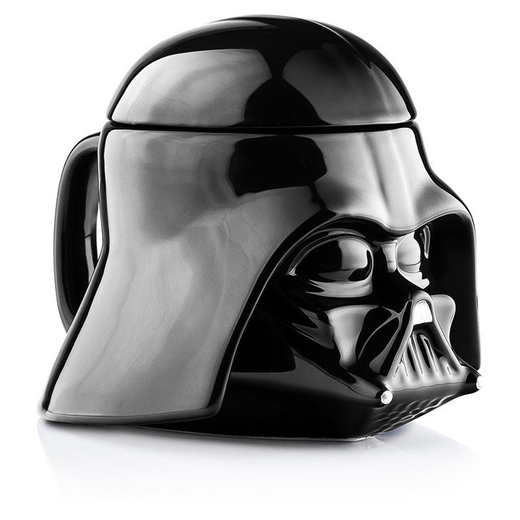 Star Wars Darth Vader Helmet 3D Ceramic 20oz. Coffee Mug with Removable Lid