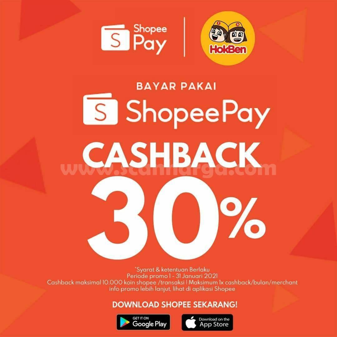 HOKBEN Promo Cashback 30% dengan Voucher Deal ShopeePay
