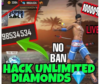How do you get unlimited diamonds on free fire?