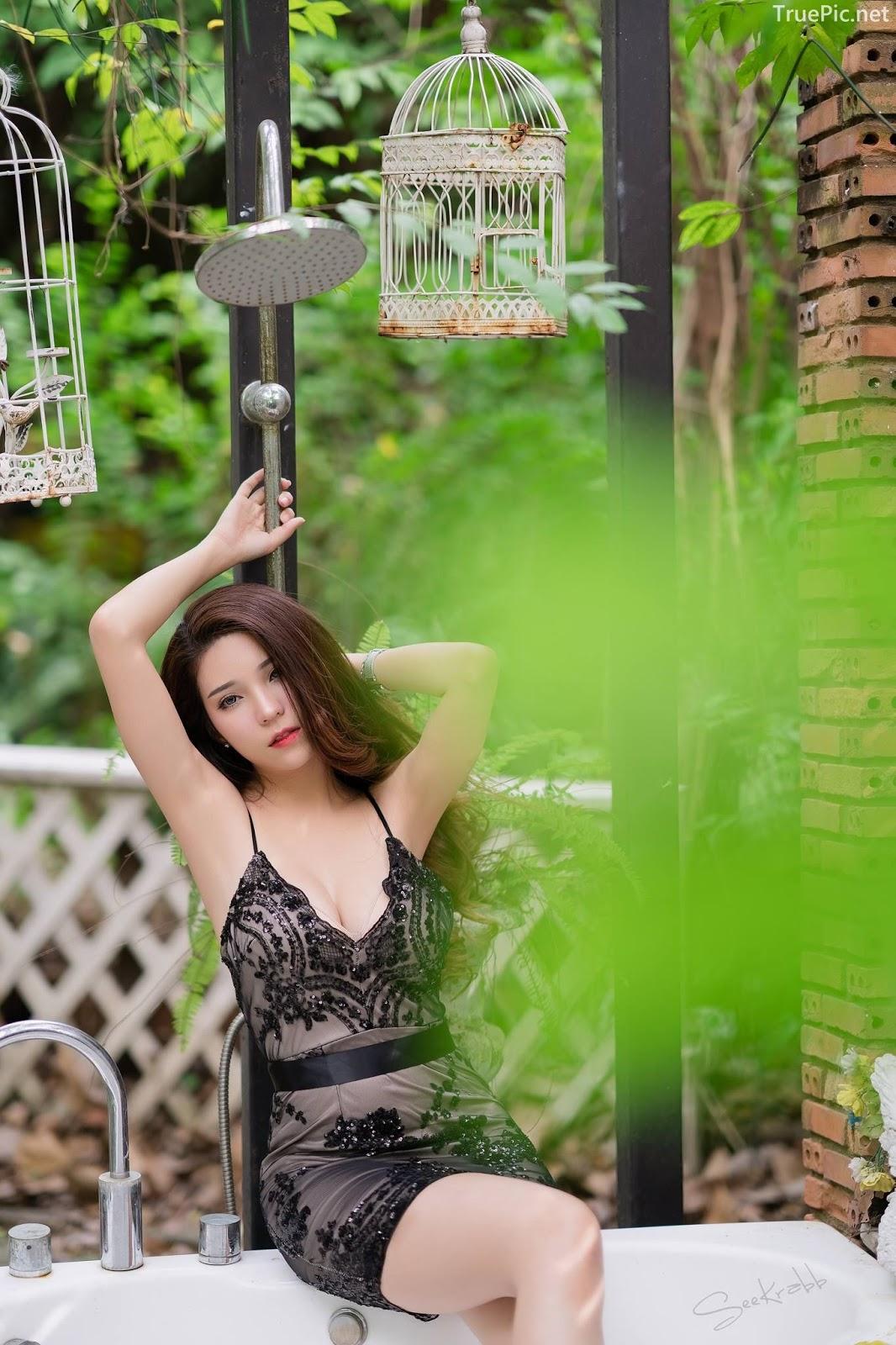 Thailand hot model - Janet Kanokwan Saesim - Black sexy garden - TruePic.net - Picture 10