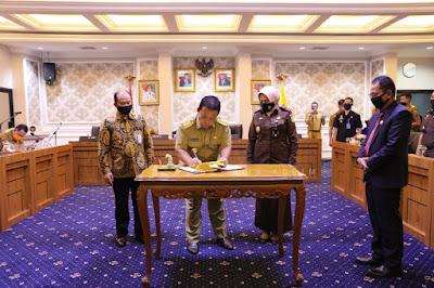 Cegah Penyimpangan Dana Covid-19, Gubernur Arinal, Kajati dan Kepala BPKP Tandatangani Kesepakatan Pendampingan Akuntabilitas