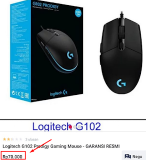 Awas hati-hati Mouse Logitech G102 Palsu beredar dipasaran
