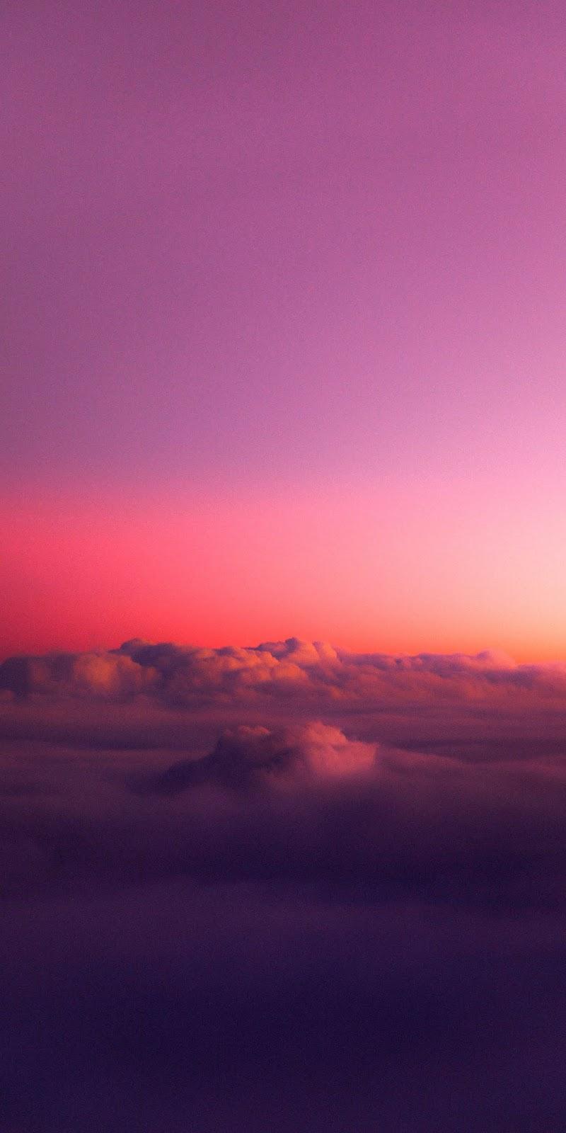 Cloud in the twilight sky