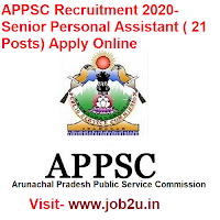 APPSC Recruitment 2020, Senior Personal Assistant