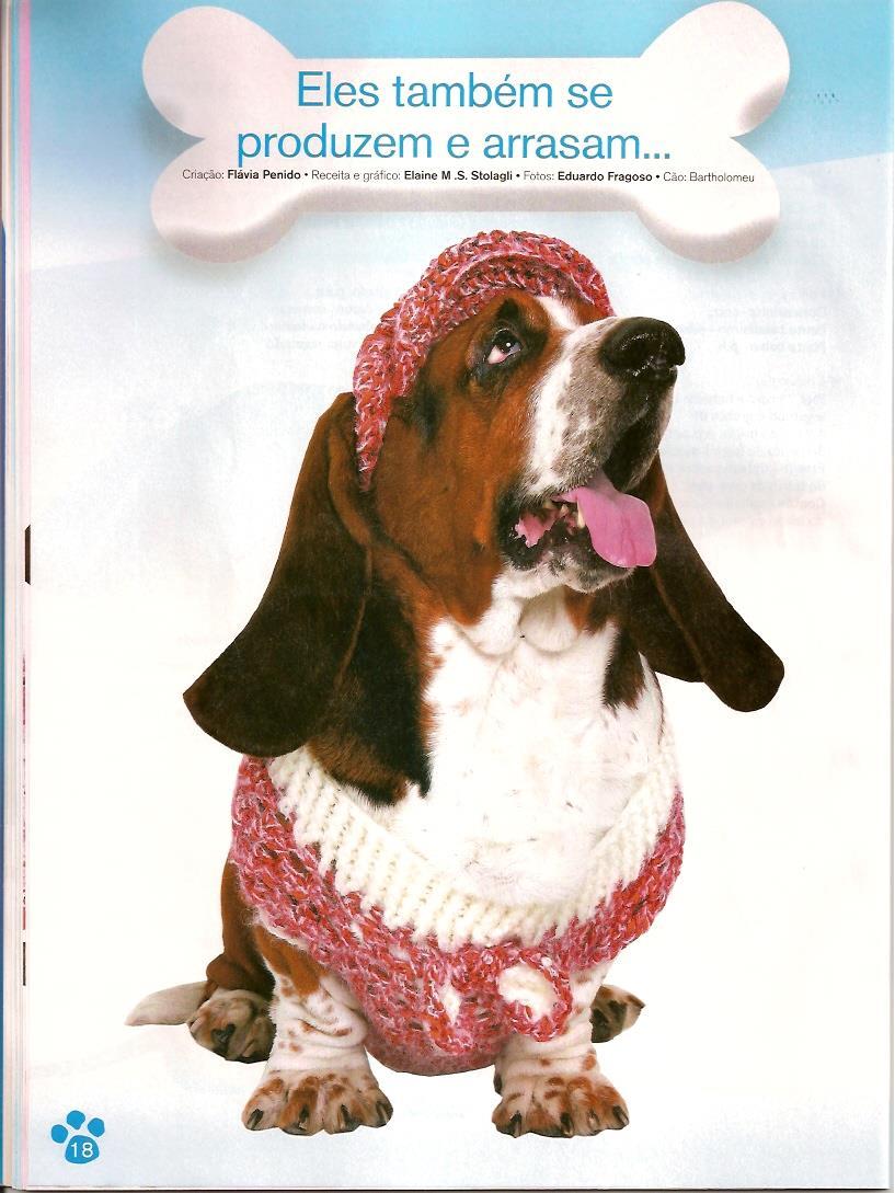 ropa para mascotas crochet  Revistas de crochet y tejidos
